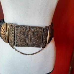 Vintage Marjorie Baer - Large, Inlaid Buckle